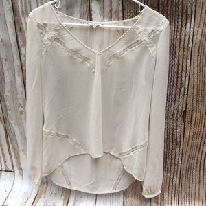 Guess Ivory Cream Blouse Small